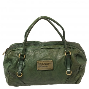 Marc by Marc Jacobs Green Leather Boston Duffel Bag