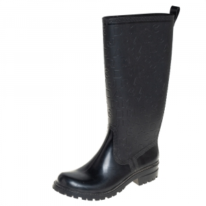 Marc by Marc Jacobs Black Rubber Alphabet Rain Boots Size 38 - used