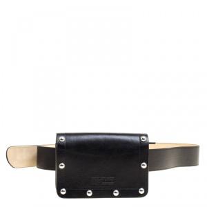 Marc Jacobs Black Leather Quintana Domed Stud Cris Belt Bag