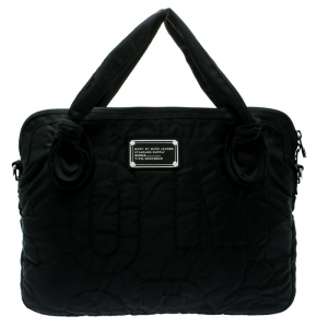 Marc By Marc Jacobs Black Nylon Pretty 13'' Laptop Bag