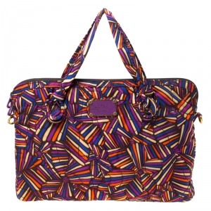Marc by Marc Jacobs Multicolore Quilted Nylon Laptop Bag