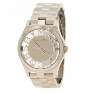Marc By Marc Jacobs Silver Dial Stainless Steel Henry Skeleton Women's Wristwatch 39 mm