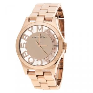 Marc by Marc Jacobs Rose Gold Plated Henry Skeleton MBM3107 Women's Wristwatch 40 mm