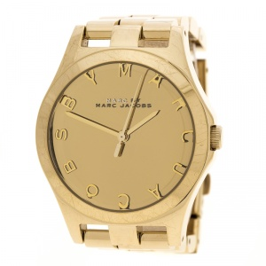 Marc by Marc Jacobs Gold Plated Stainless Steel Henry MBM3211 Women's Wristwatch 36 mm