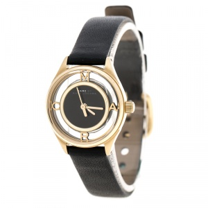 Marc By Marc Jacobs Tether Black Gold Plated MBM1381 Women's Wristwatch 25 mm