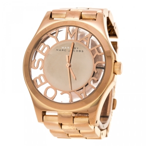 Marc by Marc Jacobs Rose Gold Plated Henry Skeleton MBM3207 Women's Wristwatch 40 mm