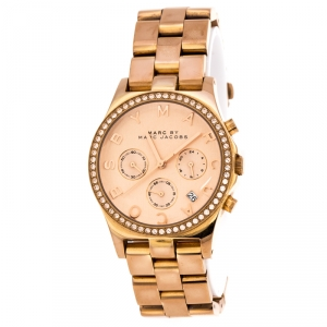 Marc by Marc Jacobs Rose Gold Plated Henry MBM3118 Women's Wristwatch 38 mm
