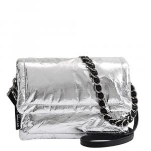 Marc Jacobs Metallic Silver Leather The Pillow Bag
