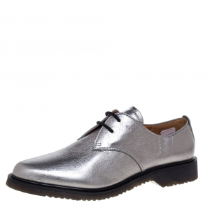 Marc Jacobs Grey Leather Lace Up Derby Size 39 -