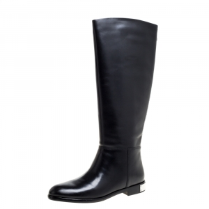 Marc By Marc Jacobs Black Leather Kip Knee Length Boots Size 39 -