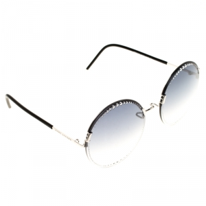 Marc Jacobs Silver/Blue Gradient 54/S Studded Round Sunglasses