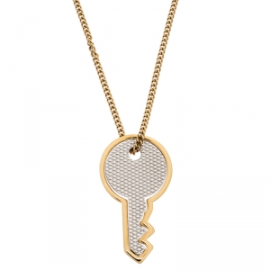 Marc by Marc Jacobs Gold Metal Tone Key Pendant  Necklace