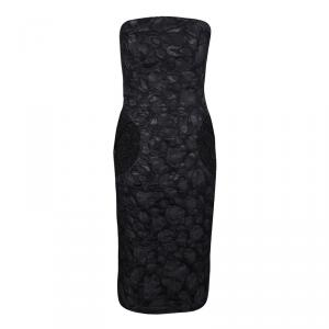 Marc Jacobs Black Polka Dot Lace Pocket Detail Strapless Dress L used