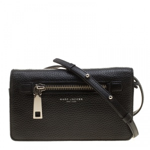 Marc Jacobs Black Leather Gotham Wallet