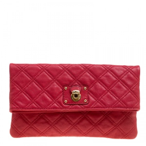 Marc Jacobs Red Quilted Leather Eugenie Clutch