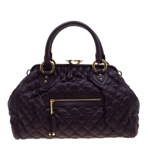 Marc Jacobs Purple Quilted Leather Stam Shoulder Bag