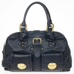 Marc Jacobs Navy Venetia Satchel Bag