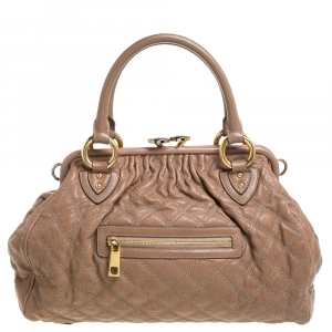 Marc Jacobs Sand Brown Leather Stam Studded Satchel