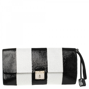 Marc Jacobs Black /White Sequins Isobel Wristlet Clutch