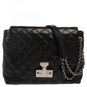 Marc Jacobs Black Quilted Leather Large Baroque Single Shoulder Bag