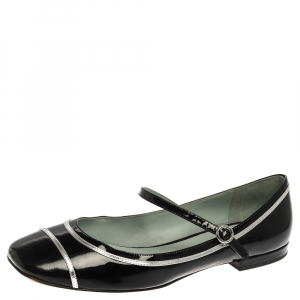 Marc Jacobs Black Patent Leather Poppy Mary Jane Ballet Flat Size 39.5 - used