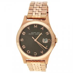 Marc by Marc Jacobs The Slim Brown Dial Rose Gold Tone MBM3350 Women's Wristwatch 36 mm