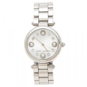 Marc Jacobs Silver Stainless Steel Dotty MJ3475 Women's Wristwatch 34 mm