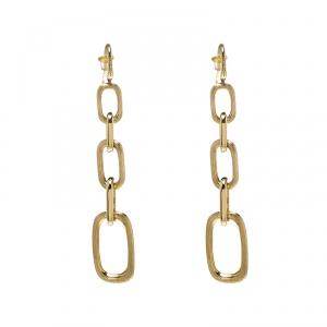 Marco Bicego Murano 18K Yellow Gold Graduating Link Drop Earrings