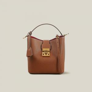 MARK CROSS Brown Murphy Leather Bucket Bag