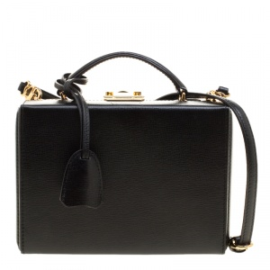 Mark Cross Black Leather Medium Grace Box Bag