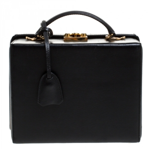 Mark Cross Black Leather Grace Box Bag