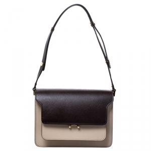 Marni Tri Color Leather Medium Trunk Shoulder Bag