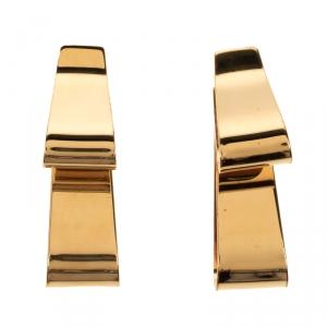 Marni Gold Tone Long Movable Earrings