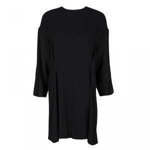 Marni Black Linen Sleeve Detail Drop Back Dress M