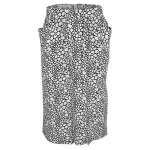 Marni Monochrome Printed Silk Skirt S