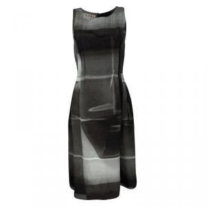 Marni Tie Dye Print Sleeveless Padded Midi Dress S