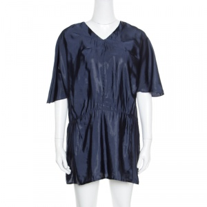 Marni Navy Blue V-Neck Dolman Sleeve Mini Dress M - used