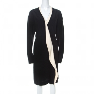 Marni Black Silk Crepe Contrast Collar Detail Short Dress M - used