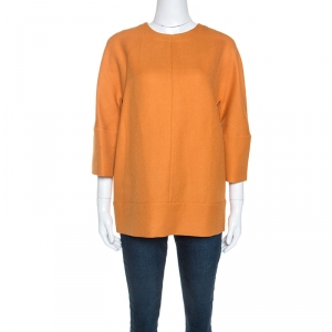 Marni Orange Wool Crepe Top M