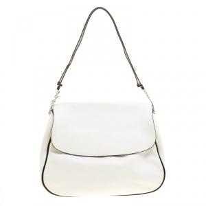 Marni White Leather Flap Shoulder Bag