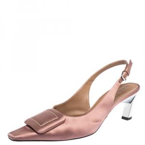 Marni Pink Satin Slingback Sandals Size 40 - used