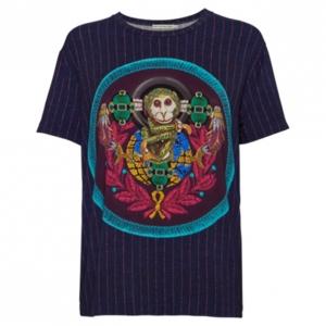 Mary Katrantzou Navy Printed T-Shirt M
