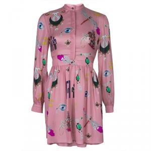 Mary Katrantzou Pink Eve Printed Dress S