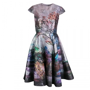 Mary Katrantzou Multicolor Metallic Jacquard Babelonia Dress M
