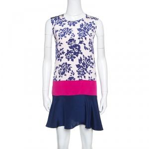 Mary Katrantzou Colorblock Rosario Print Sleeveless Antona Shift Dress M - used