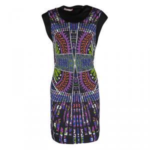 Matthew Williamson Multicolor Printed Cutout Back Detail Sleeveless Dress S