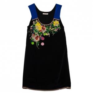 Matthew Williamson Black Floral Embroidered Dress M
