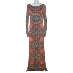 Matthew Williamson Multicolor Block Printed Silk Jersey Dress M - used