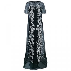Matthew Williamson Monochrome Embroidered Dress M