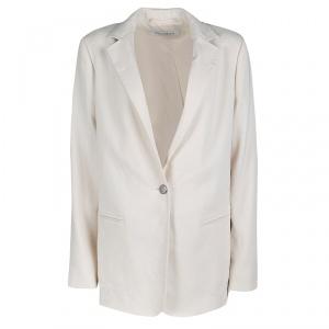Max Mara Cream Tailored Single Button Blazer M